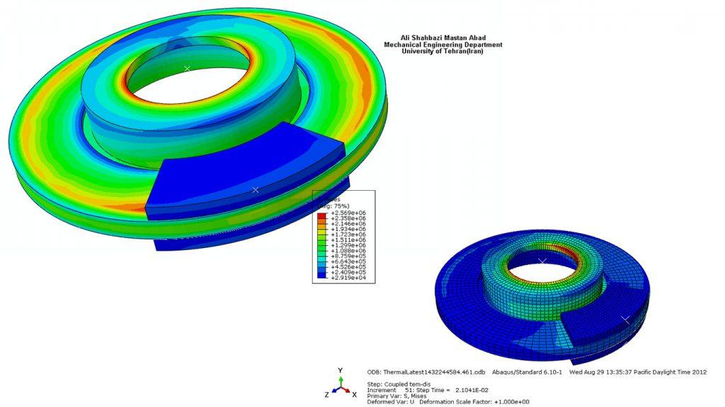 تحلیل محاسباتی FEM تنش دیسک